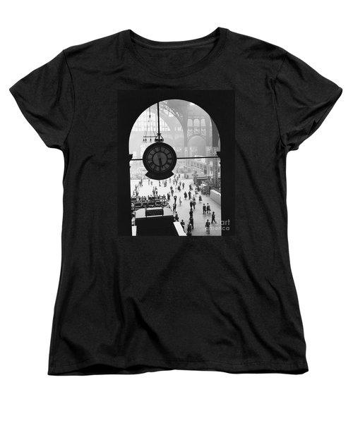 Penn Station Clock Women's T-Shirt (Standard Cut) by Van D Bucher and Photo Researchers