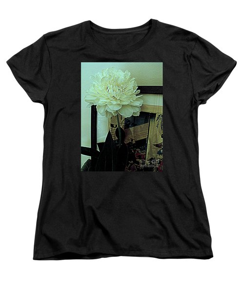 Peony Pose Women's T-Shirt (Standard Cut) by Nancy Kane Chapman