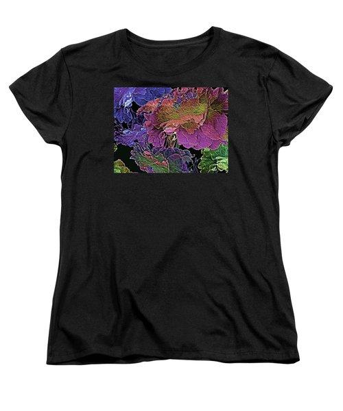 Peony Profusion 104 Women's T-Shirt (Standard Cut) by Lynda Lehmann