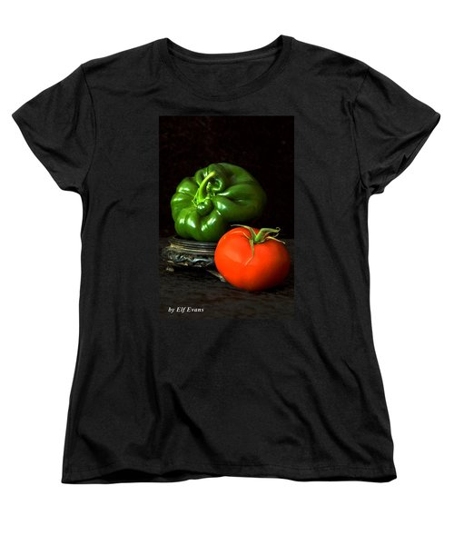 Pepper And Tomato Women's T-Shirt (Standard Cut) by Elf Evans