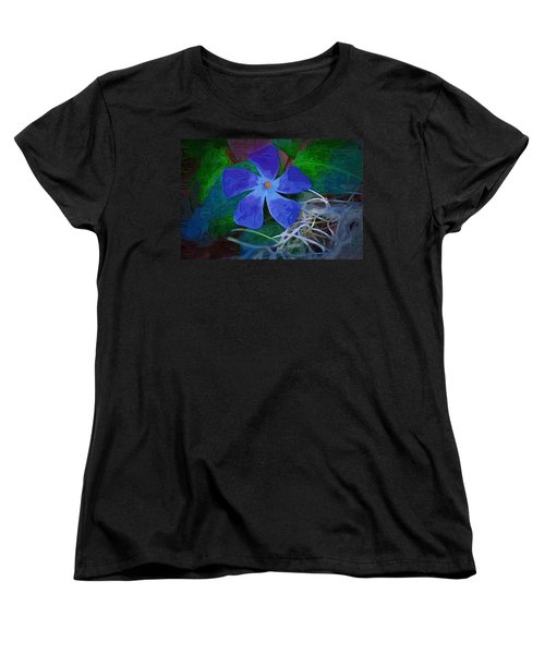 Women's T-Shirt (Standard Cut) featuring the digital art Periwinkle Blue by Donna Bentley