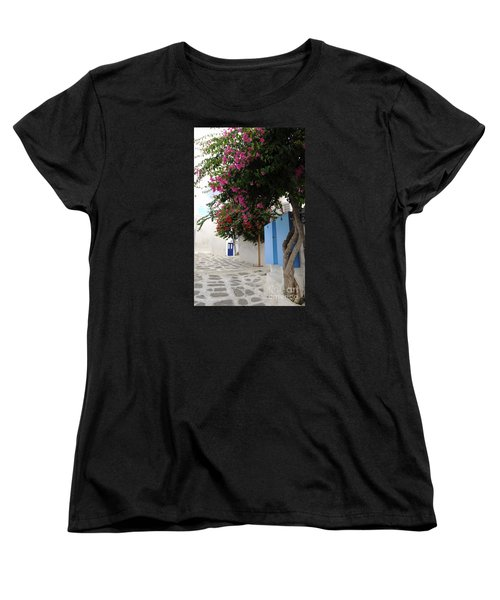 Women's T-Shirt (Standard Cut) featuring the photograph Perspective Blue Door by Haleh Mahbod