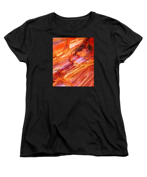 Petrified Abstraction No 1 Women's T-Shirt (Standard Cut) by Andreas Thust