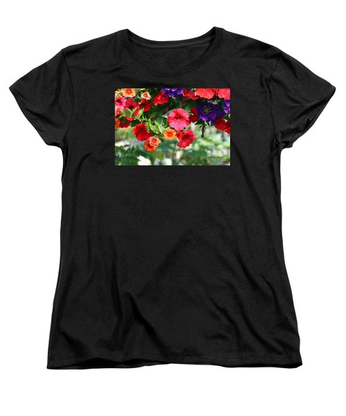 Petunias Women's T-Shirt (Standard Cut) by Denise Pohl