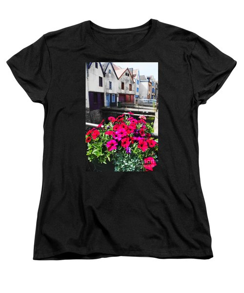 Petunias Of Amiens Women's T-Shirt (Standard Cut) by Therese Alcorn