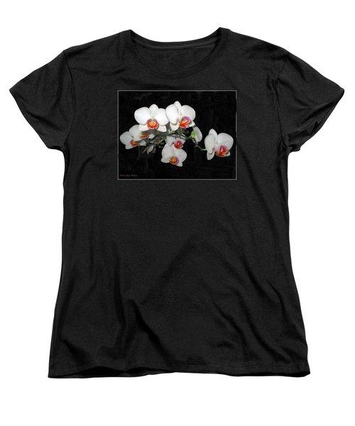 Phalaenopsis Orchids Women's T-Shirt (Standard Cut) by Joyce Dickens