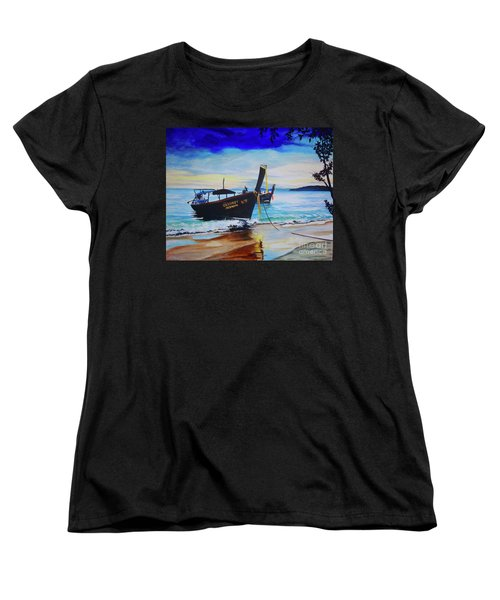 Women's T-Shirt (Standard Cut) featuring the painting Phi Phi by Stuart Engel