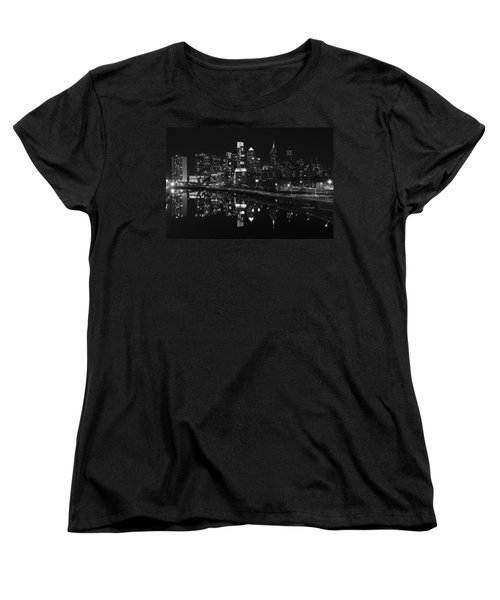 Philly And The Schuylkill Bw Women's T-Shirt (Standard Cut) by Jennifer Ancker