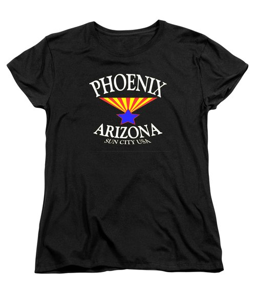 Phoenix Arizona Tshirt Design Women's T-Shirt (Standard Cut) by Art America Gallery Peter Potter