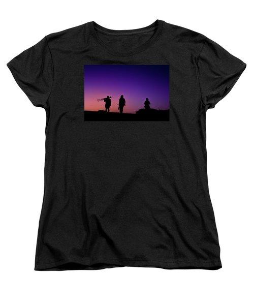 Photographers At Sunset Women's T-Shirt (Standard Cut) by Ralph Vazquez