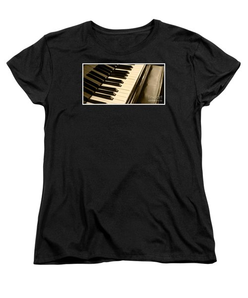 Piano Women's T-Shirt (Standard Cut) by Charuhas Images