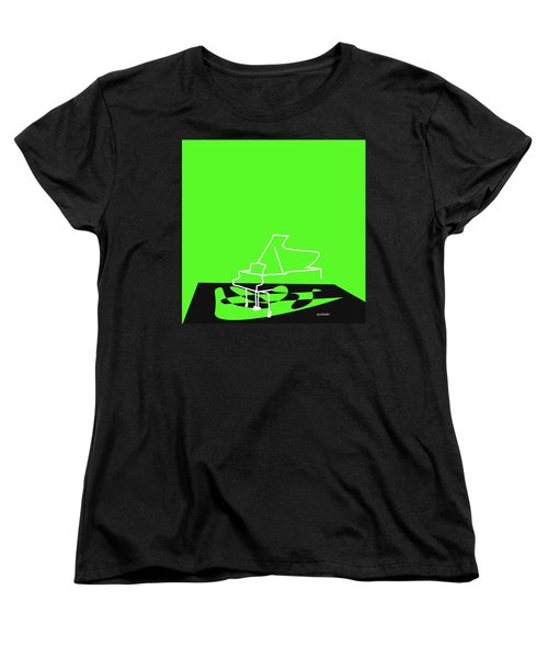 Women's T-Shirt (Standard Cut) featuring the digital art Piano In Green by Jazz DaBri