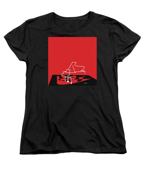 Women's T-Shirt (Standard Cut) featuring the digital art Piano In Red by Jazz DaBri