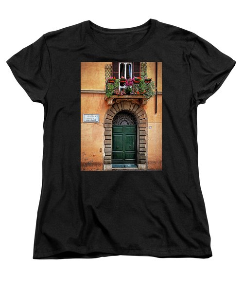 Women's T-Shirt (Standard Cut) featuring the photograph Piazza Navona House by Marion McCristall