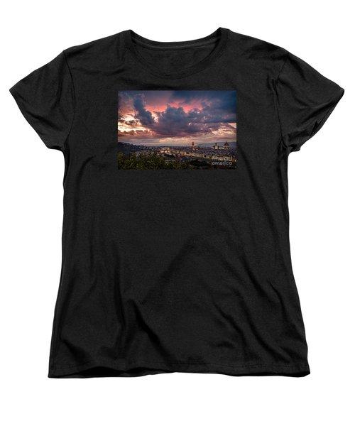 Piazzale Michelangelo Women's T-Shirt (Standard Cut) by Giuseppe Torre