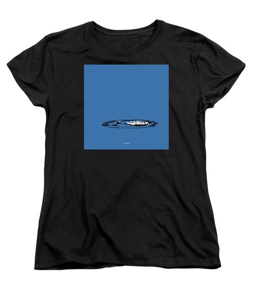 Women's T-Shirt (Standard Cut) featuring the digital art Piccolo In Blue by Jazz DaBri