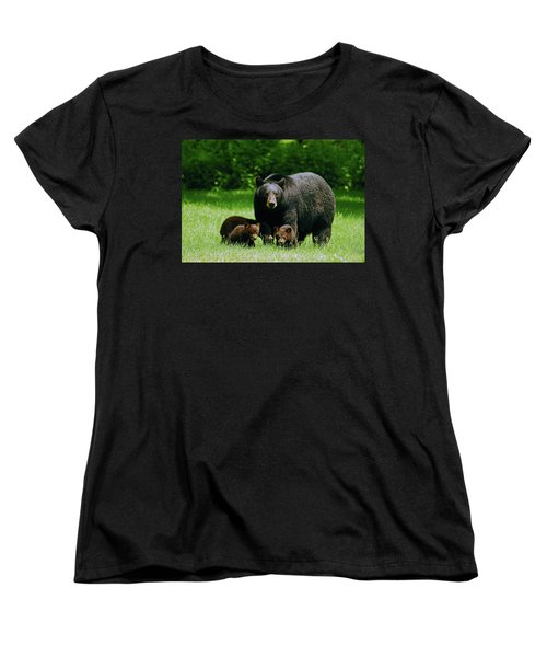 Picnic Crashers Women's T-Shirt (Standard Cut) by Lori Tambakis