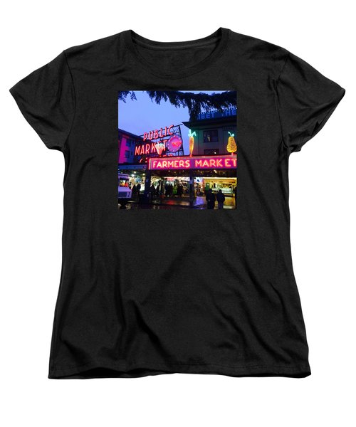 Pike Place Market Women's T-Shirt (Standard Cut) by Anthony Grayson