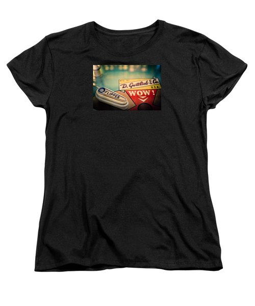 Pinball - Wow Women's T-Shirt (Standard Cut) by Colleen Kammerer