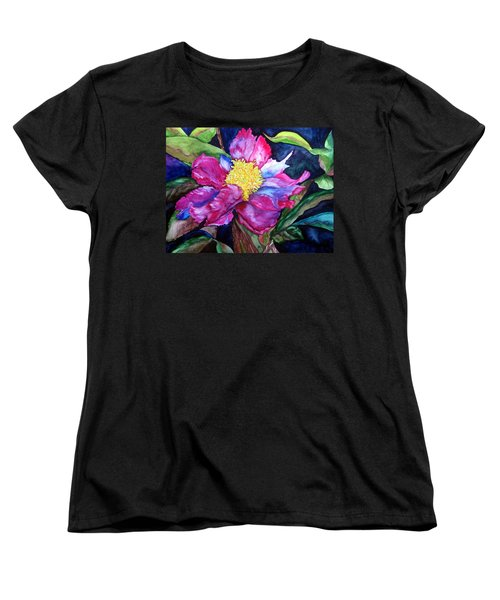 Women's T-Shirt (Standard Cut) featuring the painting Pink Drama by Lil Taylor