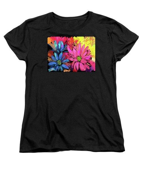 Pink Flower Women's T-Shirt (Standard Cut) by DC Langer