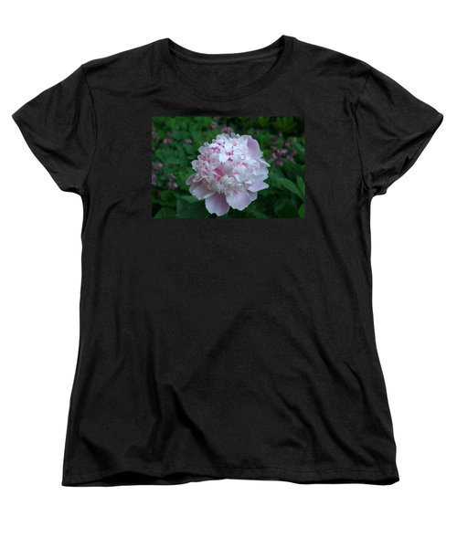 Women's T-Shirt (Standard Cut) featuring the digital art Pink Peony by Barbara S Nickerson