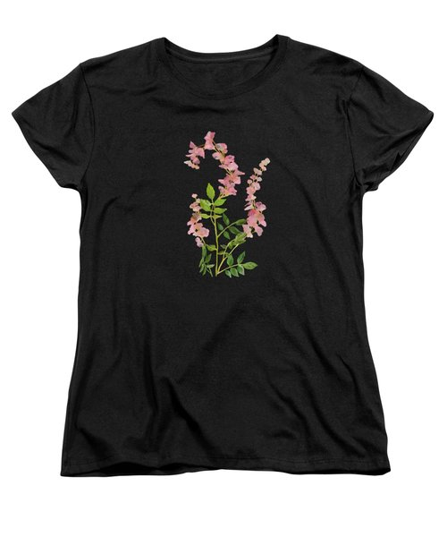 Pink Tiny Flowers Women's T-Shirt (Standard Cut) by Ivana Westin