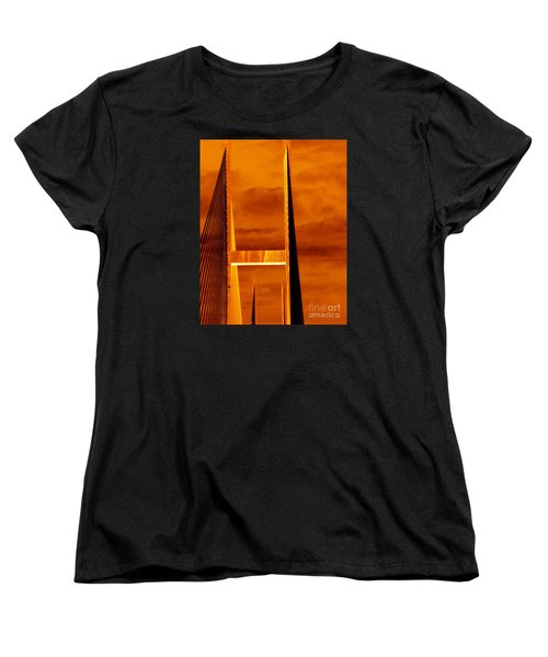 Women's T-Shirt (Standard Cut) featuring the photograph Pinnacle by Cathy Dee Janes