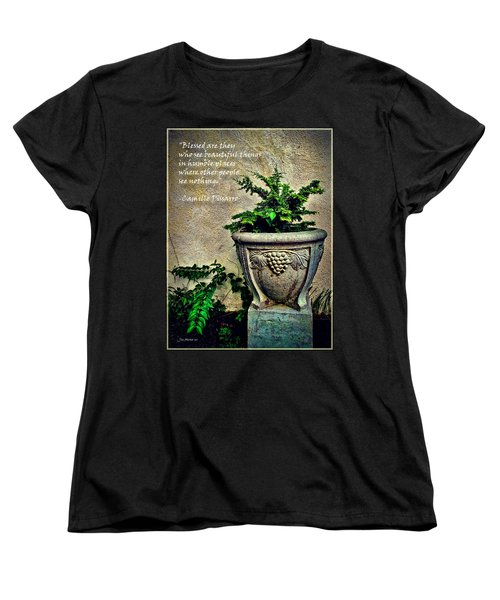 Pissarro Inspirational Quote Women's T-Shirt (Standard Cut) by Joan  Minchak
