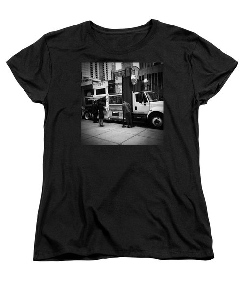 Pizza Oven Truck - Chicago - Monochrome Women's T-Shirt (Standard Cut) by Frank J Casella