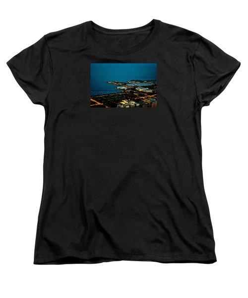 Planetarium And Aquarium Women's T-Shirt (Standard Cut) by Richard Zentner