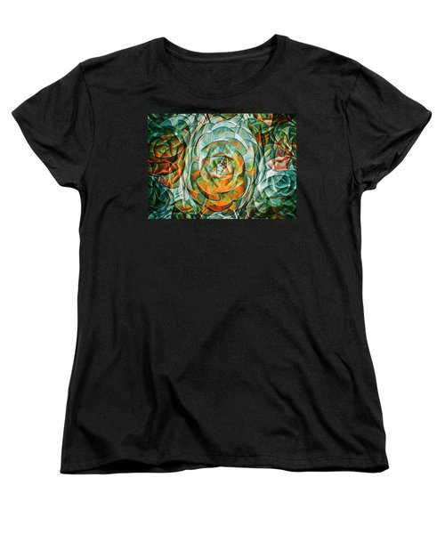 Women's T-Shirt (Standard Cut) featuring the photograph Plant Abstract by Wayne Sherriff