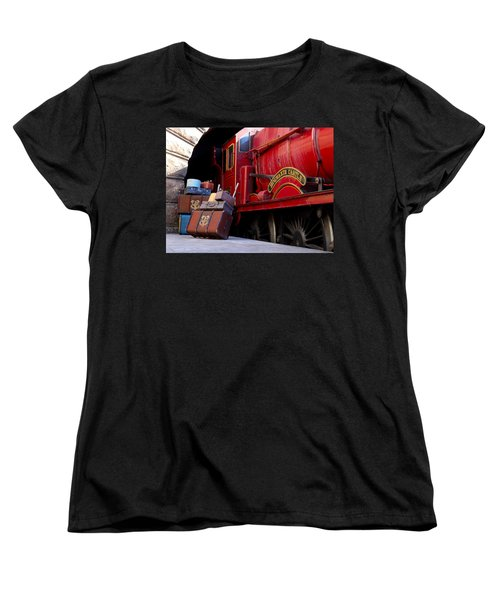 Women's T-Shirt (Standard Cut) featuring the photograph Platform Nine And Three Quarters by Julia Wilcox