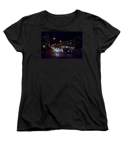 Women's T-Shirt (Standard Cut) featuring the photograph Plaza Lights by Jim Mathis