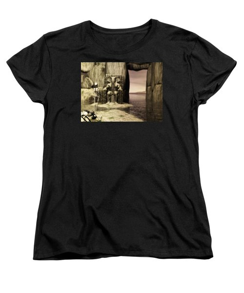 Women's T-Shirt (Standard Cut) featuring the digital art Plea Of The Penitent To The Lord Of Perdition by John Alexander