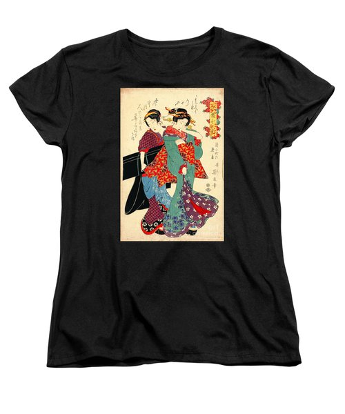 Poet Komachi 1818 Women's T-Shirt (Standard Cut) by Padre Art