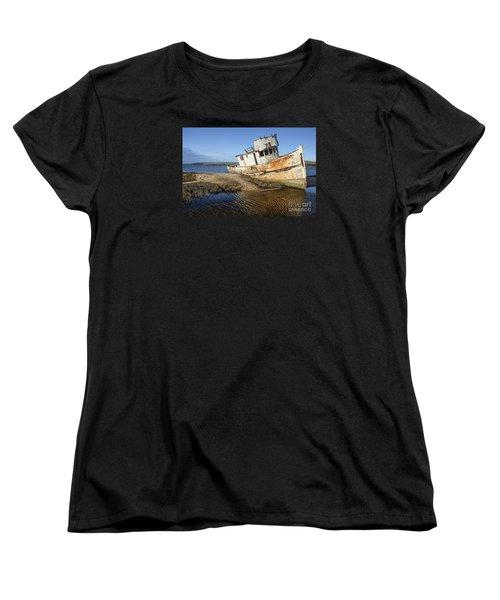 Point Reyes Shipwreck Women's T-Shirt (Standard Cut) by Amy Fearn
