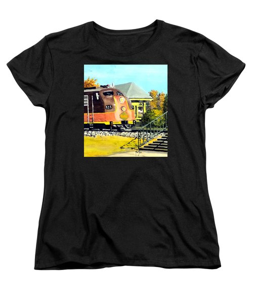 Women's T-Shirt (Standard Cut) featuring the painting Polar Express by Jim Phillips