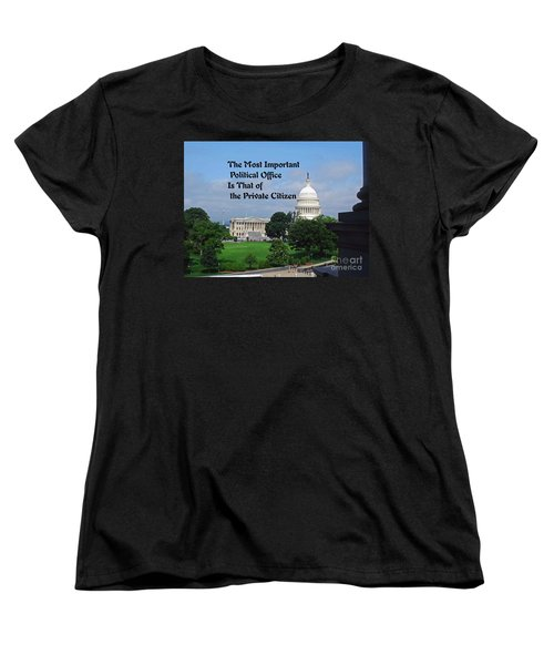 Women's T-Shirt (Standard Cut) featuring the photograph Political Statement by Gary Wonning
