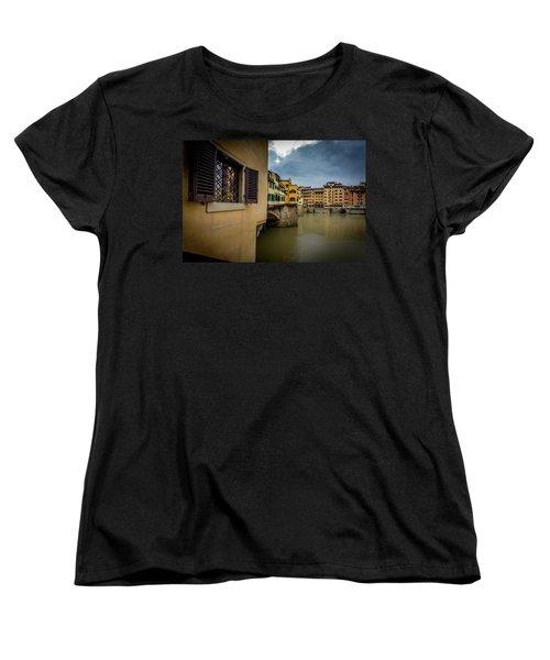 Ponte Vecchio Women's T-Shirt (Standard Cut) by Sonny Marcyan