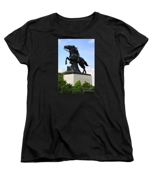 Pony Express Rider Women's T-Shirt (Standard Cut) by Linda Phelps
