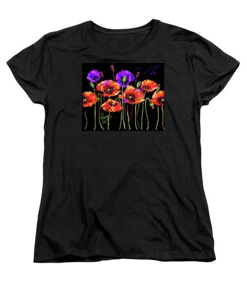 Poppies Women's T-Shirt (Standard Cut) by DC Langer