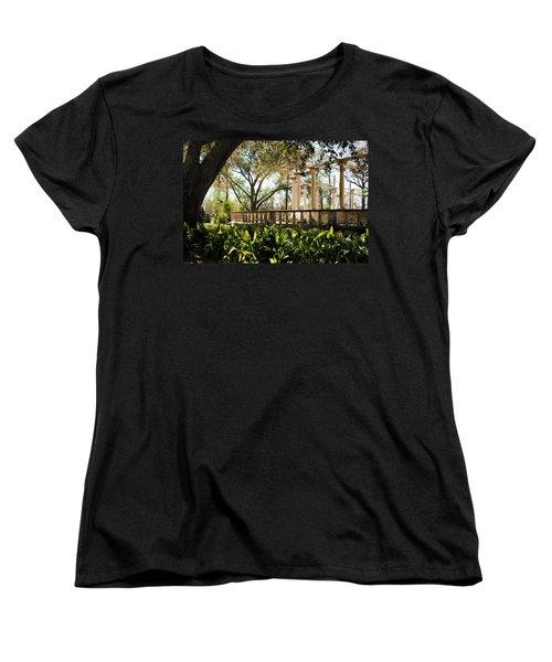 Popp's Fountain Women's T-Shirt (Standard Cut) by Kathleen K Parker