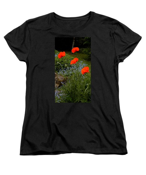 Poppy Foursome Women's T-Shirt (Standard Cut) by Renate Nadi Wesley