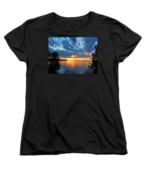 Porcupine Mountains Sunset Women's T-Shirt (Standard Cut) by Keith Stokes