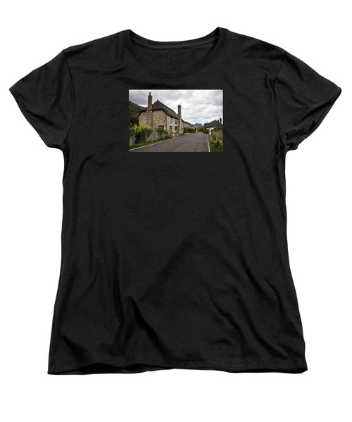Women's T-Shirt (Standard Cut) featuring the photograph Porlock Weir by Shirley Mitchell