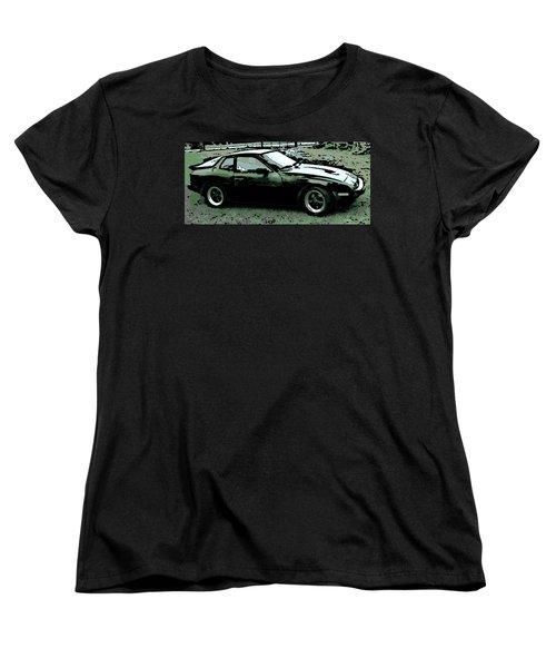 Porsche 944 On A Hot Afternoon Women's T-Shirt (Standard Cut) by George Pedro