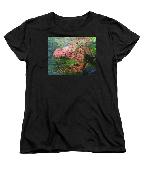 Portland Japanese Maple Women's T-Shirt (Standard Cut) by LaVonne Hand