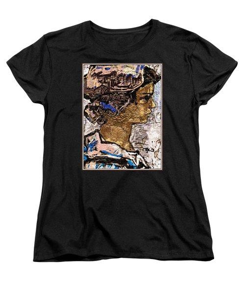 Women's T-Shirt (Standard Cut) featuring the digital art Portrait Of A Girl Pog2 by Pemaro