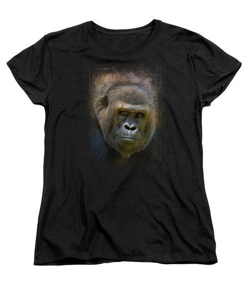 Portrait Of A Gorilla Women's T-Shirt (Standard Cut)